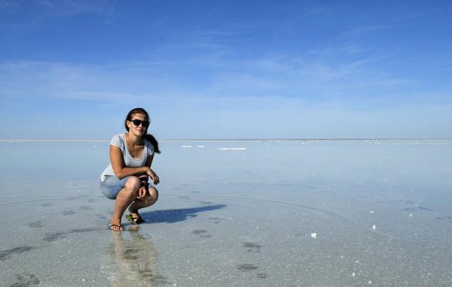 гладкое озеро Эльтон