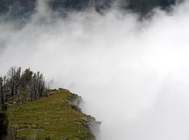 туман на вершине