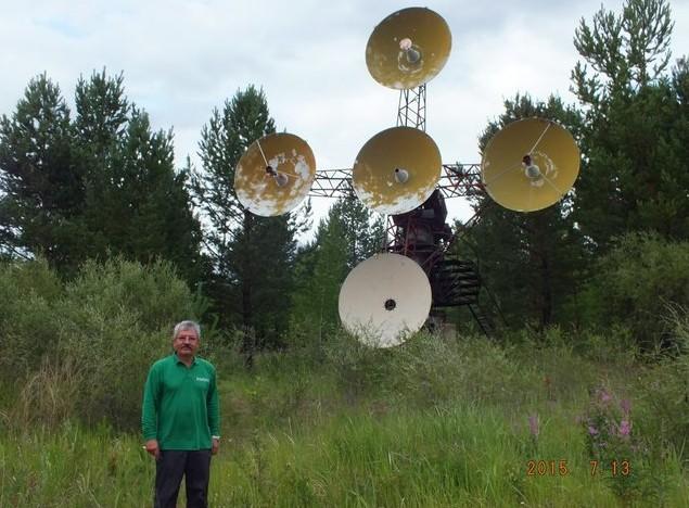 тарелки радиотелескопа аршан