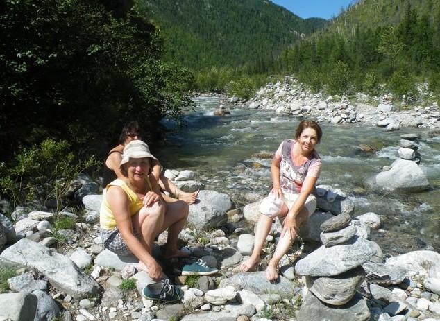 тихая река после водопадов
