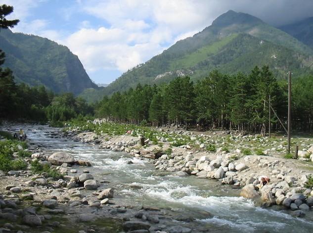 горная река с тункинских гльцов