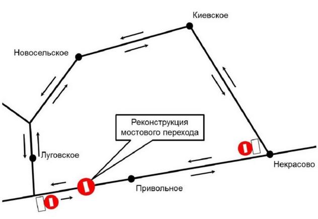 схема объезда на трассе березовка жемчужное