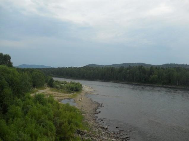Вид с моста через Бию