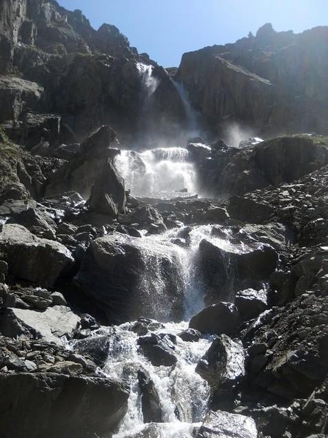 водопад на актру