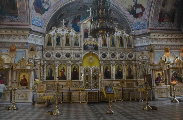 Александро-Невский собор ы ижевске иконостас