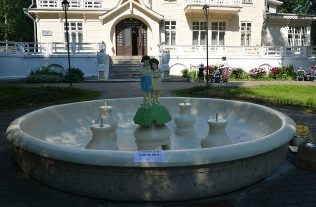 фонтан на даче башенина