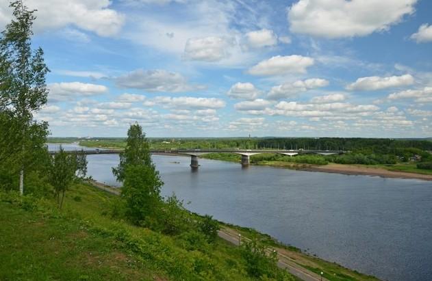 Вид на реку Вятка.