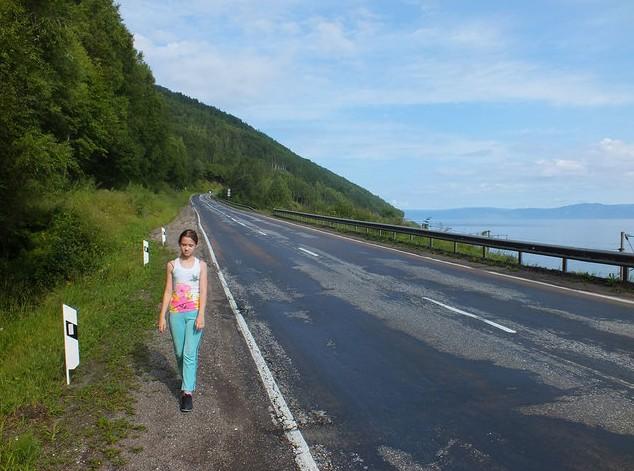дорога возле байкальска