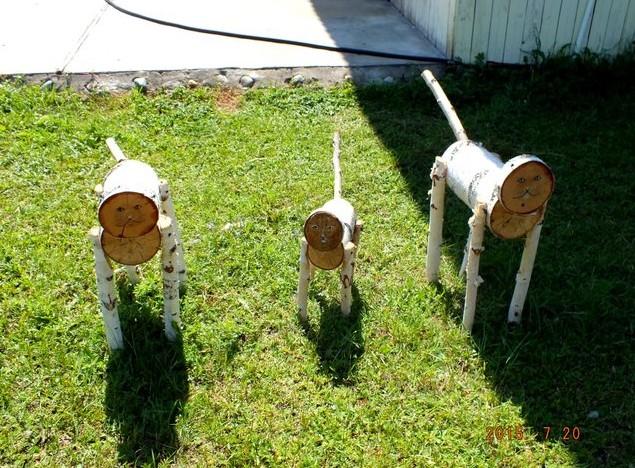 деревянные собаки на умхей