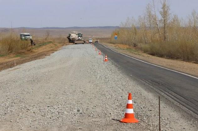 ремонт дороги р-258 Иркутск - чита