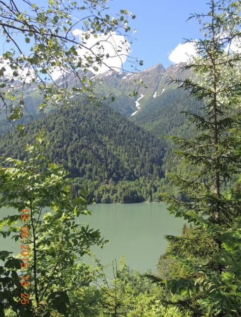 поездка на озеро рица