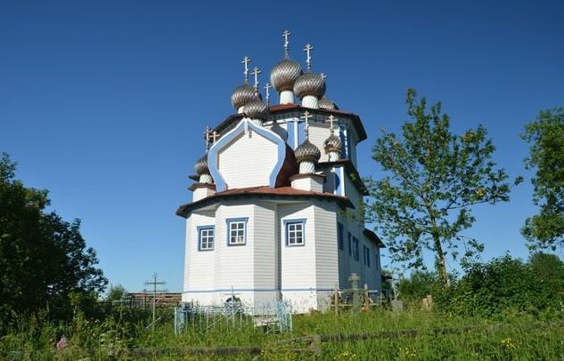 Богоявленская церковь село лядино