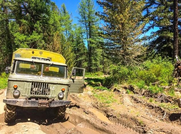 поездка на газ-66 на мультинские озера