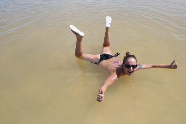 купание на баскунчак