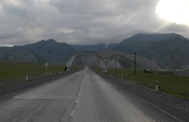 дорога на перевал талдык
