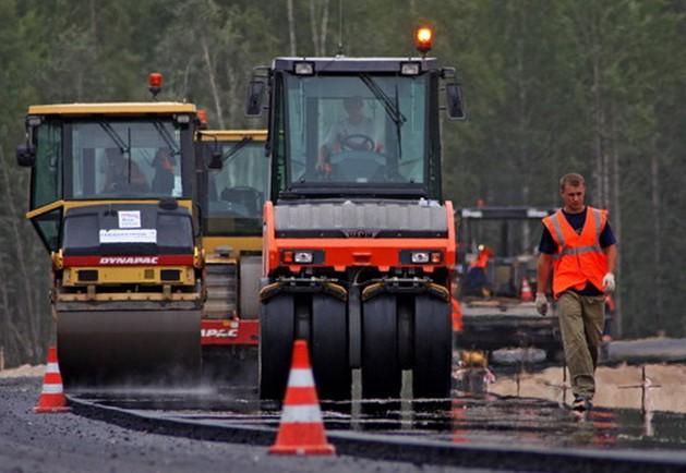 ремонт трассы М-8
