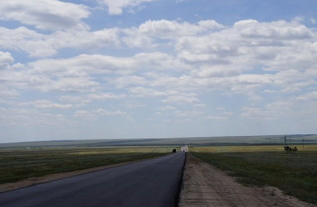 дорога в калмыкии