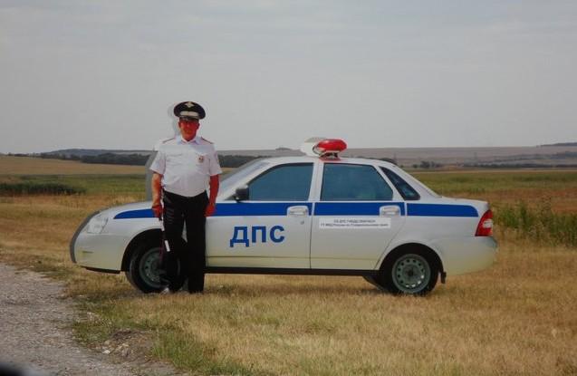 картонный полицейский