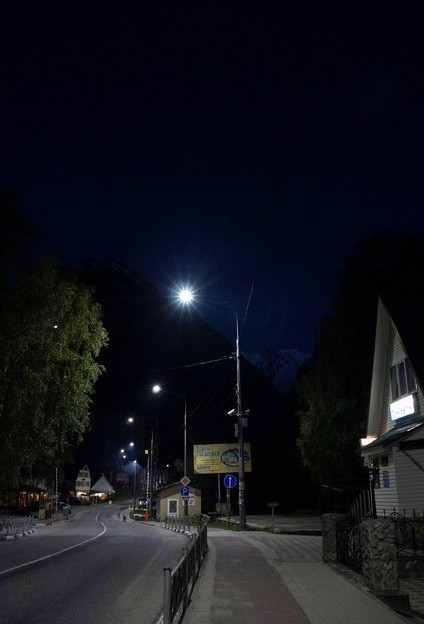 домбай ночью