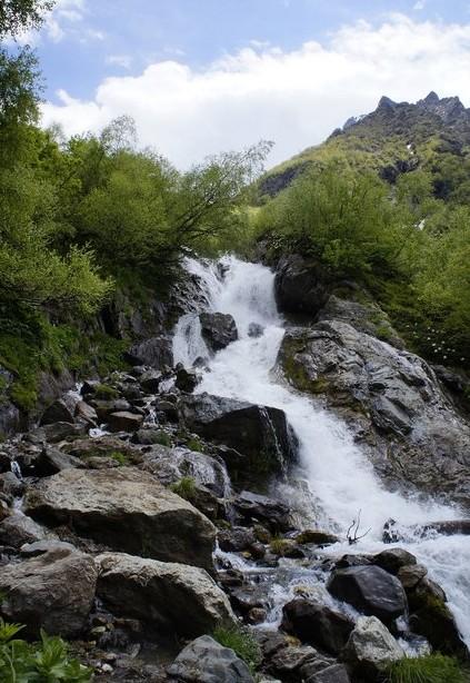 Чучхурский водопад домбай