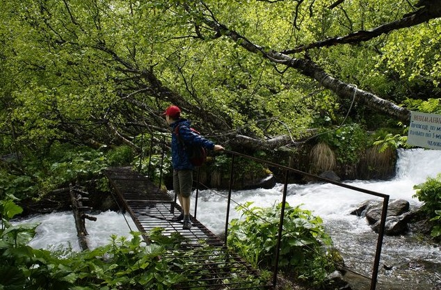 мостик через горые речки
