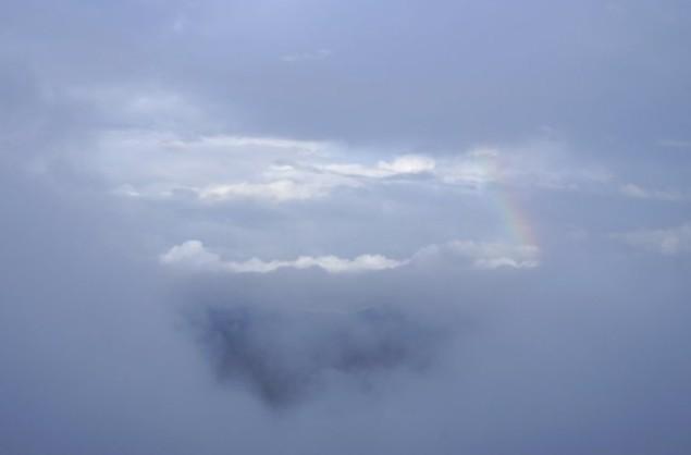 вид на облака и туман