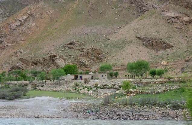 дорога вдоль реки памир
