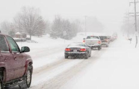 Трасса м53 зимой, дорога М53