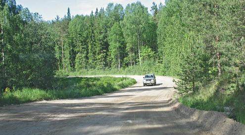 Трасса А124, маршрут Выборг Приозерье, дорога А124 возле Каменногорска