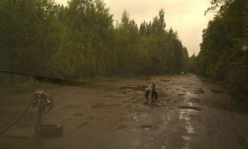 Трасса А125, маршрут Молодежное Черкасово, плохой участкок дороги А125