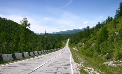 Трасса А164, маршрут Слюдянка Монды