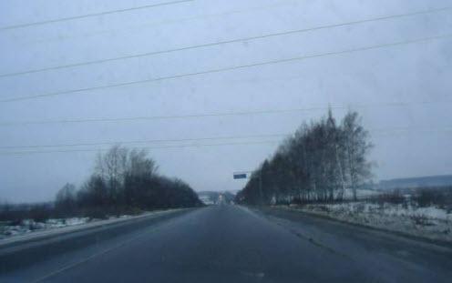 Трасса М7 Волга перед Владимиром
