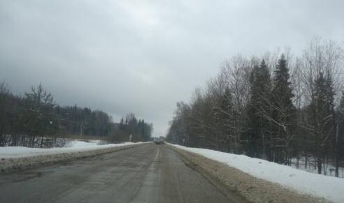Трасса М8 Холмогоры Вологодская область