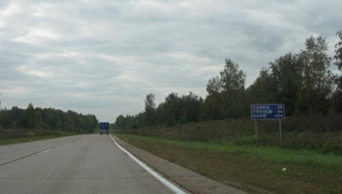 Трасса М3, карта трассы м3 украина