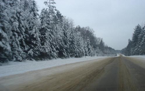 Трасса А111, зимняя дорога