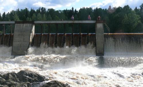 Трасса А133, водосброс на Ингольской ГЭС