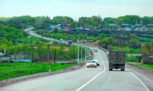 Трасса А-144, возле Васильевки Воронежская область