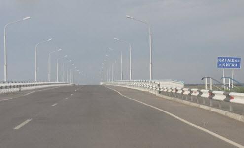 Трасса А340, мост через реку Кигач