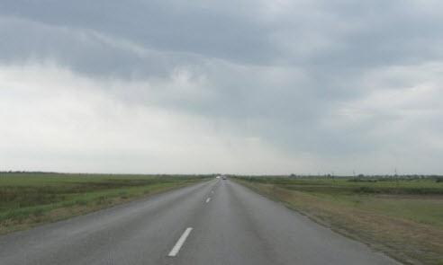 Трасса А340, после поселка Белый Ильмень