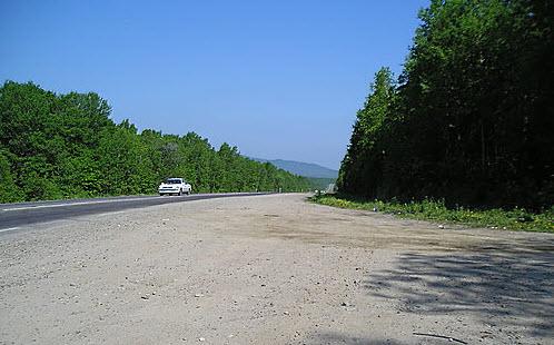 Трасса М60, рядом с поселком Корфовка