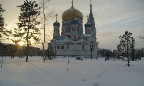 Трасса М51, Успенский кафедральный собор в Омске