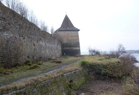 Государева башня, крепость Орешек, трасса м18