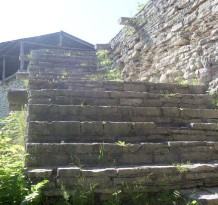 Лестница на крепостную стену, Порхов достопримечательности трассы М20