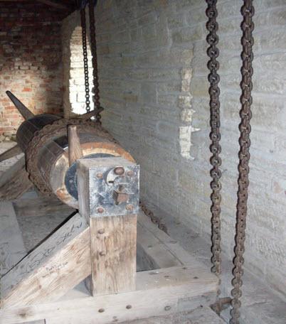 Механизм поднятия решеток на воротах (рабочий), крепость Орешек