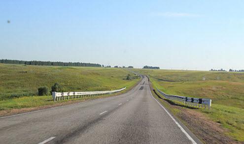 Трасса А349, маршрут Барнаул - Рубцовск - граница с Казахстаном