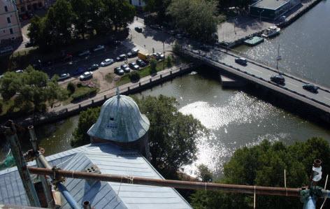 Вид с башни св. Олафа, выборг, достопримечательности трассы М10