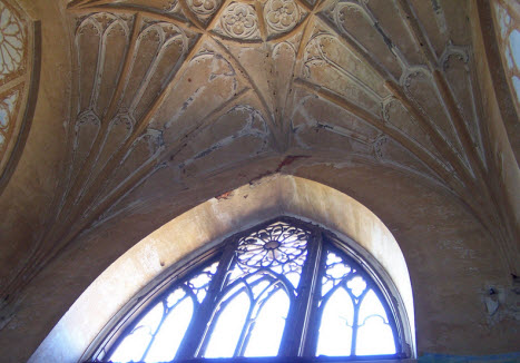 Внутри Шапели, потолок и окно под куполом, пушкин, трасса М10