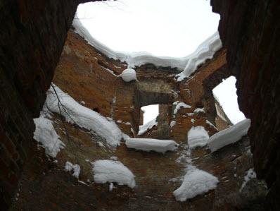 Гостилицы, дворец Потемкина, вид изнутри, трасса М11