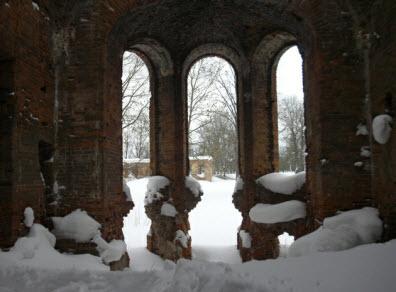 Дворец Потемкиных, в Гостилицах, одно из помещений, вид изнутри