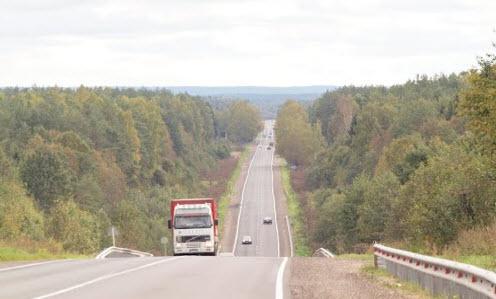 Трасса М20, дорога М20 Псков, Киевское шоссе, возле опочки